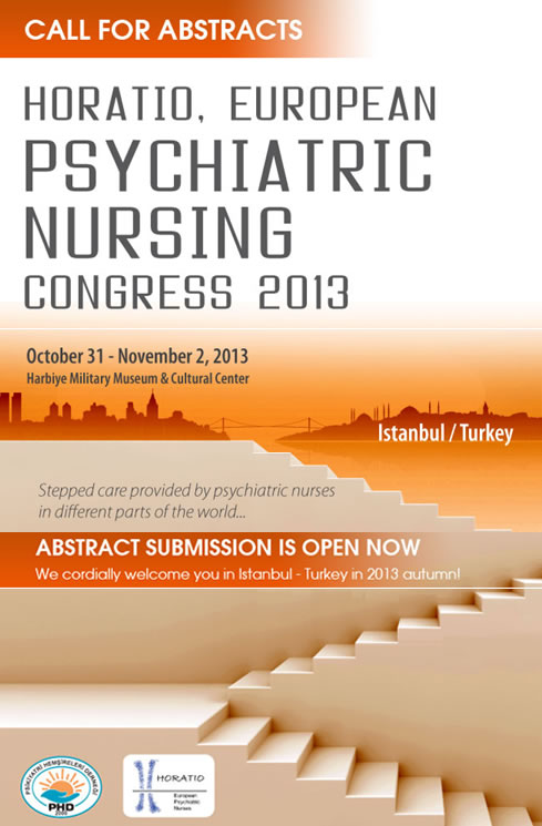 "HORATIO: European Psychiatric Nursing Congress 2013 with the theme ""Stepped care provided by psychiatric nurses in different parts of the world"", 31 October-2 November 2013"