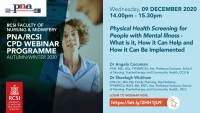 Physical Health Screening for People with Mental Illness - What is it, How it Can Help and How it Can Be Implemented
