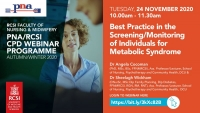 Best Practice in the Screening/Monitoring  of Individuals for Metabolic Syndrome